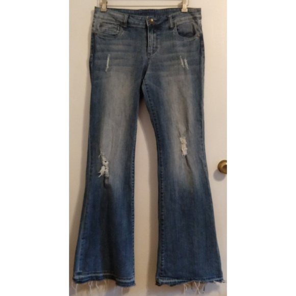 Kut from the Kloth Denim - Kut From the Cloth Distressed Flares Jeans 10